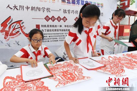 第五届芳草非遗嘉年华活动在北京民俗博物馆举办。主办方供图