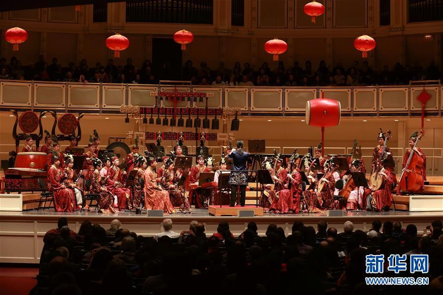 悠扬古编钟欢喜中国年--中国视频和讲座在美演京剧乐声私密