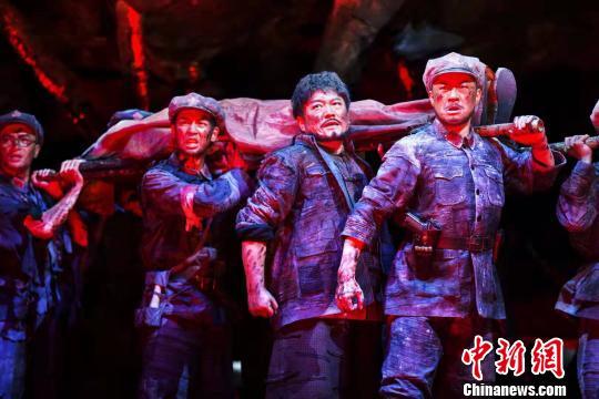 原创音乐剧《血色湘江》剧照钟欣摄